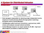 a system for distributed intrusion detection