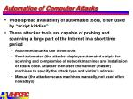 automation of computer attacks