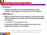 boosting based algorithms