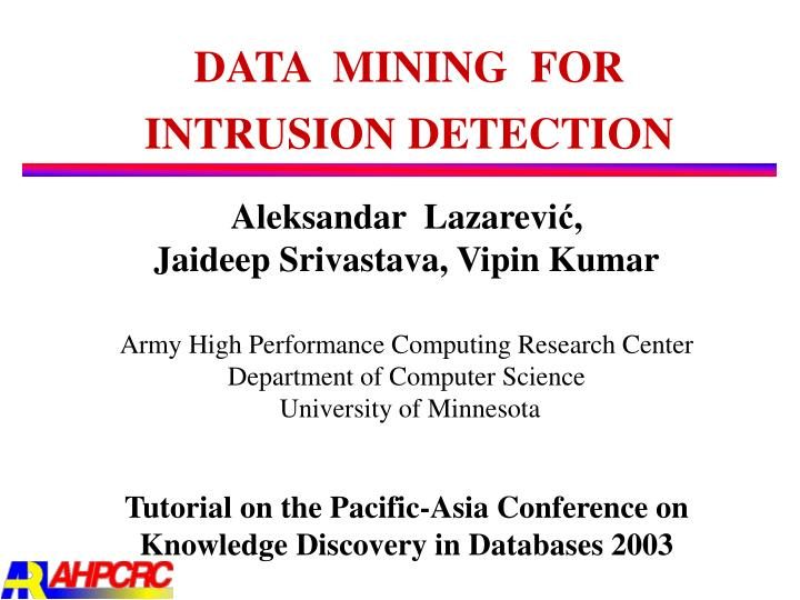 data mining for intrusion detection n.