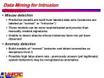 data mining for intrusion detection1