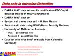 data sets in intrusion detection