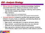 ids analysis strategy