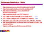 intrusion detection links