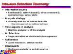 intrusion detection taxonomy