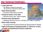 key technical challenges