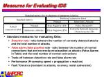 measures for evaluating ids