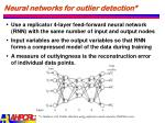 neural networks for outlier detection