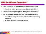 nns for misuse detection