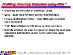 profiling anomaly detection using nns