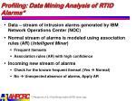profiling data mining analysis of rtid alarms