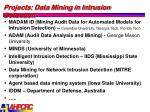 projects data mining in intrusion detection