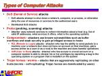types of computer attacks