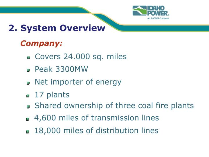 2. System Overview