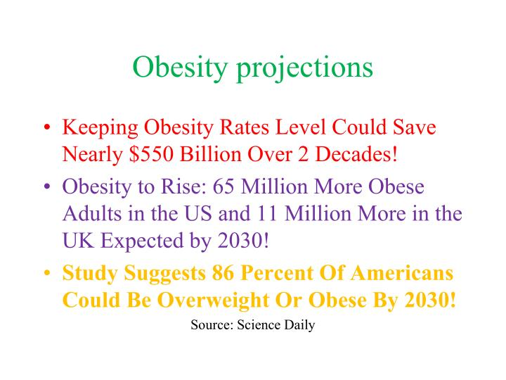 Obesity projections
