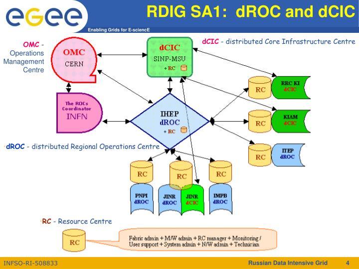 RDIG SA1:  dROC and dCIC