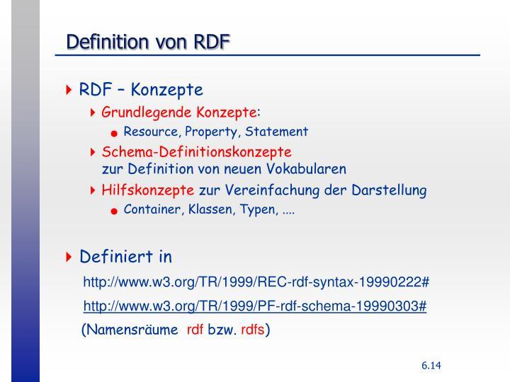 Definition von RDF