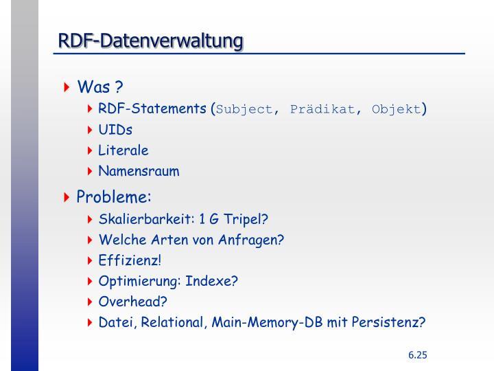 RDF-Datenverwaltung