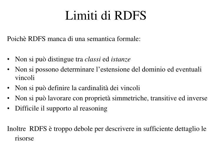 Limiti di RDFS