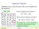 alignments of histories2