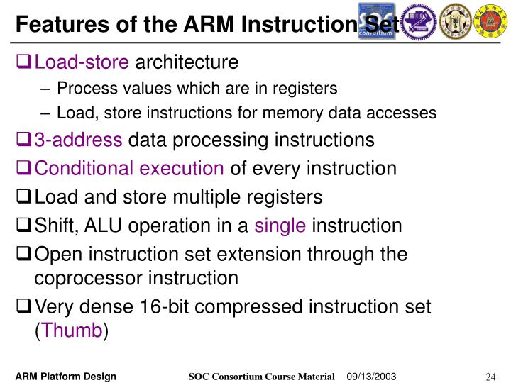 Ppt Arm Instruction Sets And Program Powerpoint Presentation Id