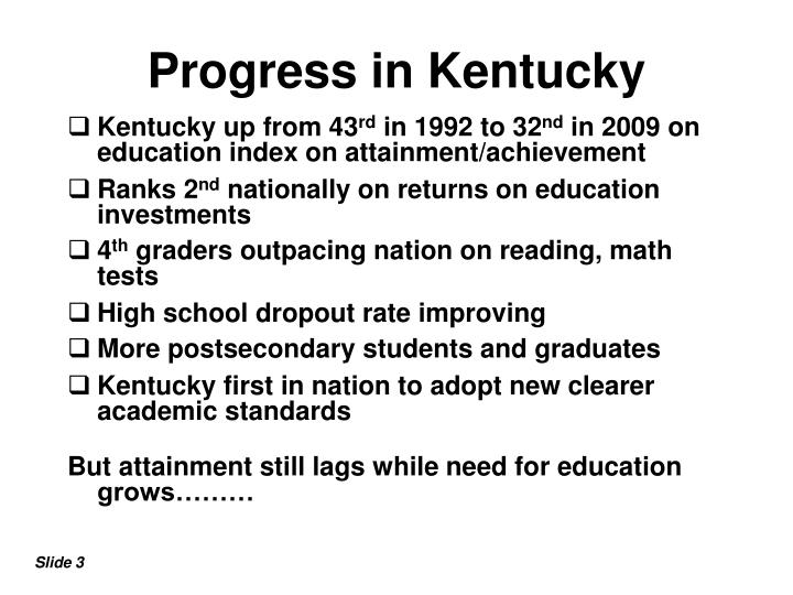Progress in Kentucky