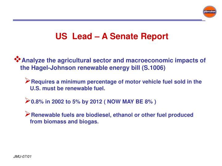 US  Lead – A Senate Report