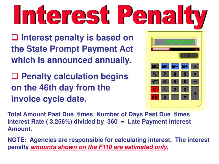 Interest Penalty