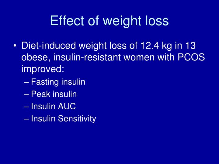 Effect of weight loss