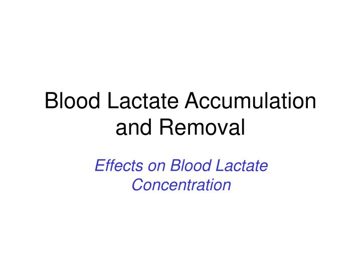 blood lactate report