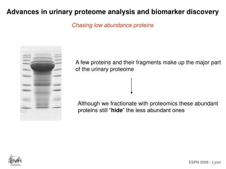 Advances in urinary proteome analysis and biomarker discovery