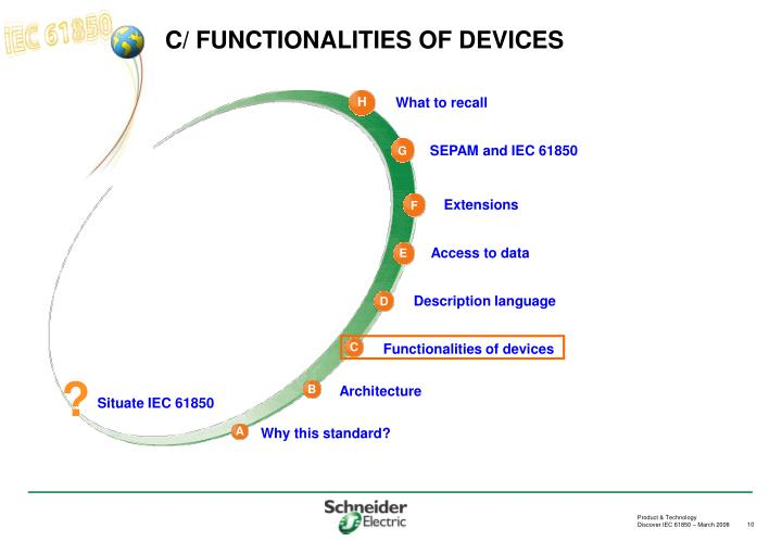C/ FUNCTIONALITIES OF DEVICES