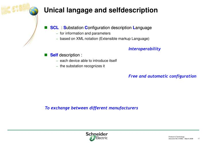 Unical langage and selfdescription