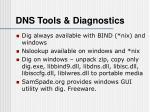 dns tools diagnostics
