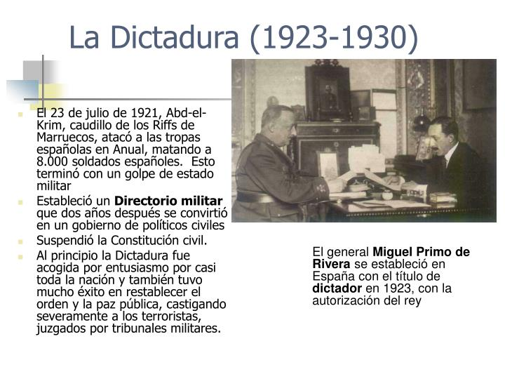 La Dictadura (1923-1930)
