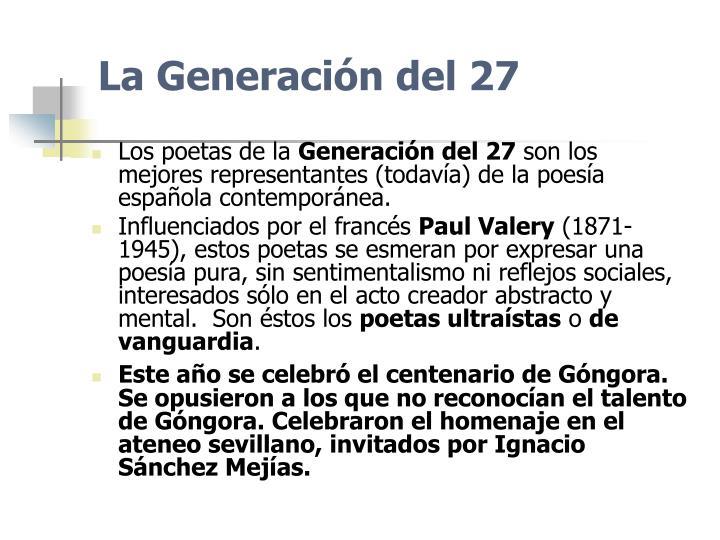 La Generación del 27