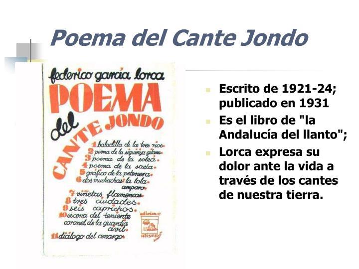 Poema del Cante Jondo