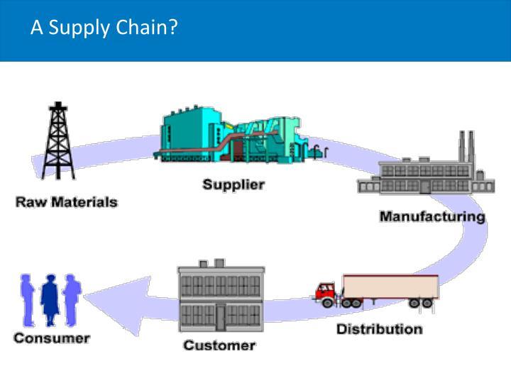 A Supply Chain?