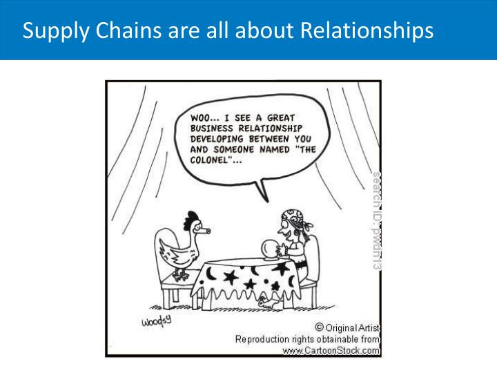 Supply Chains are all about Relationships