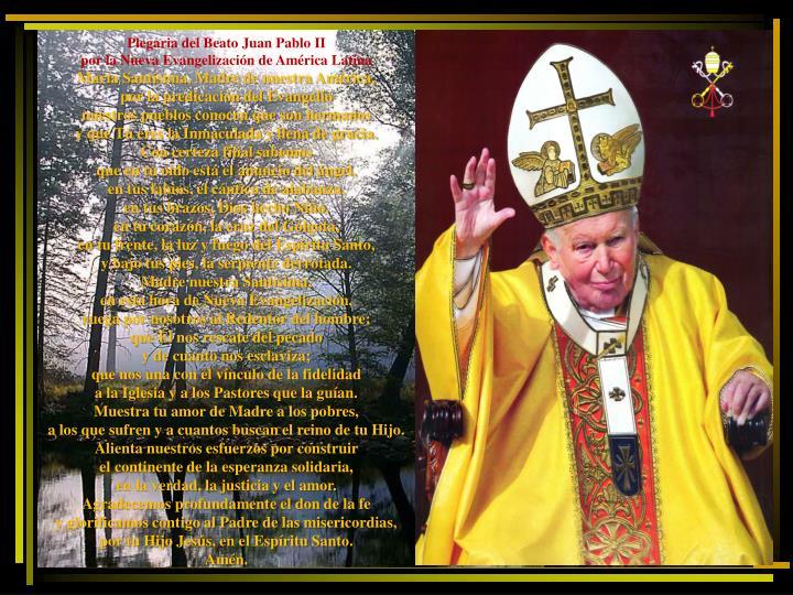 Plegaria del Beato Juan Pablo II