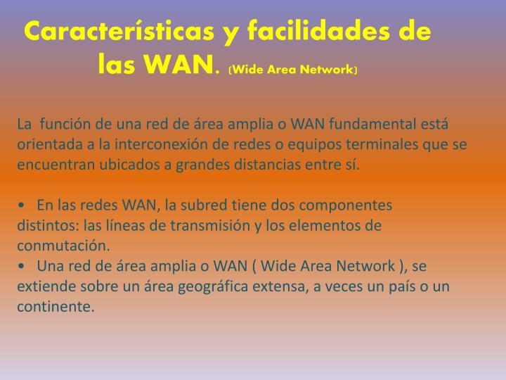 Caracter sticas y facilidades de las wan wide area network