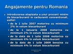 angajamente pentru romania