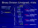 binary division unsigned 4 bits