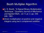 booth multiplier algorithm