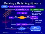 deriving a better algorithm 1