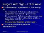 integers with sign other ways
