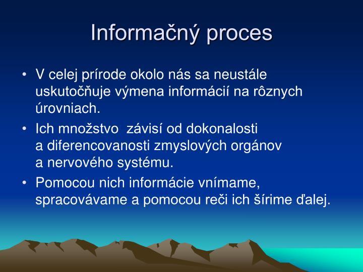 Informačný proces