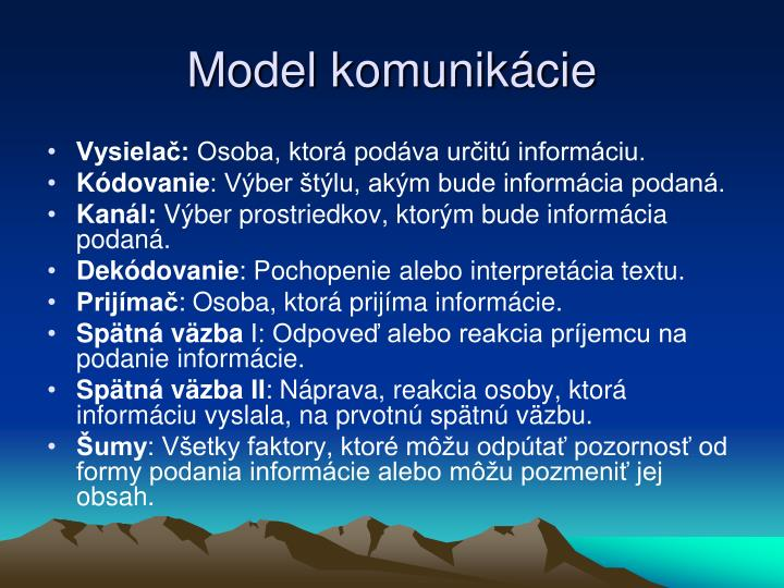 Model komunikácie