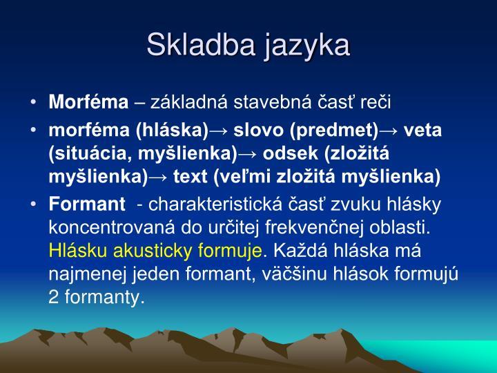 Skladba jazyka
