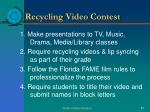 recycling video contest